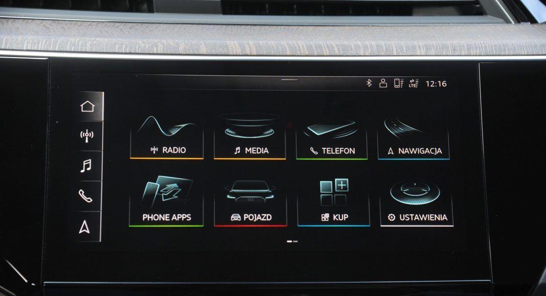 audi e-tron system multimedialny