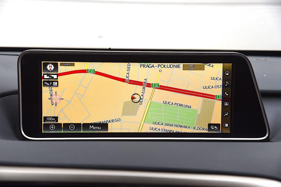 Lexus RX - nawigacja satelitarna
