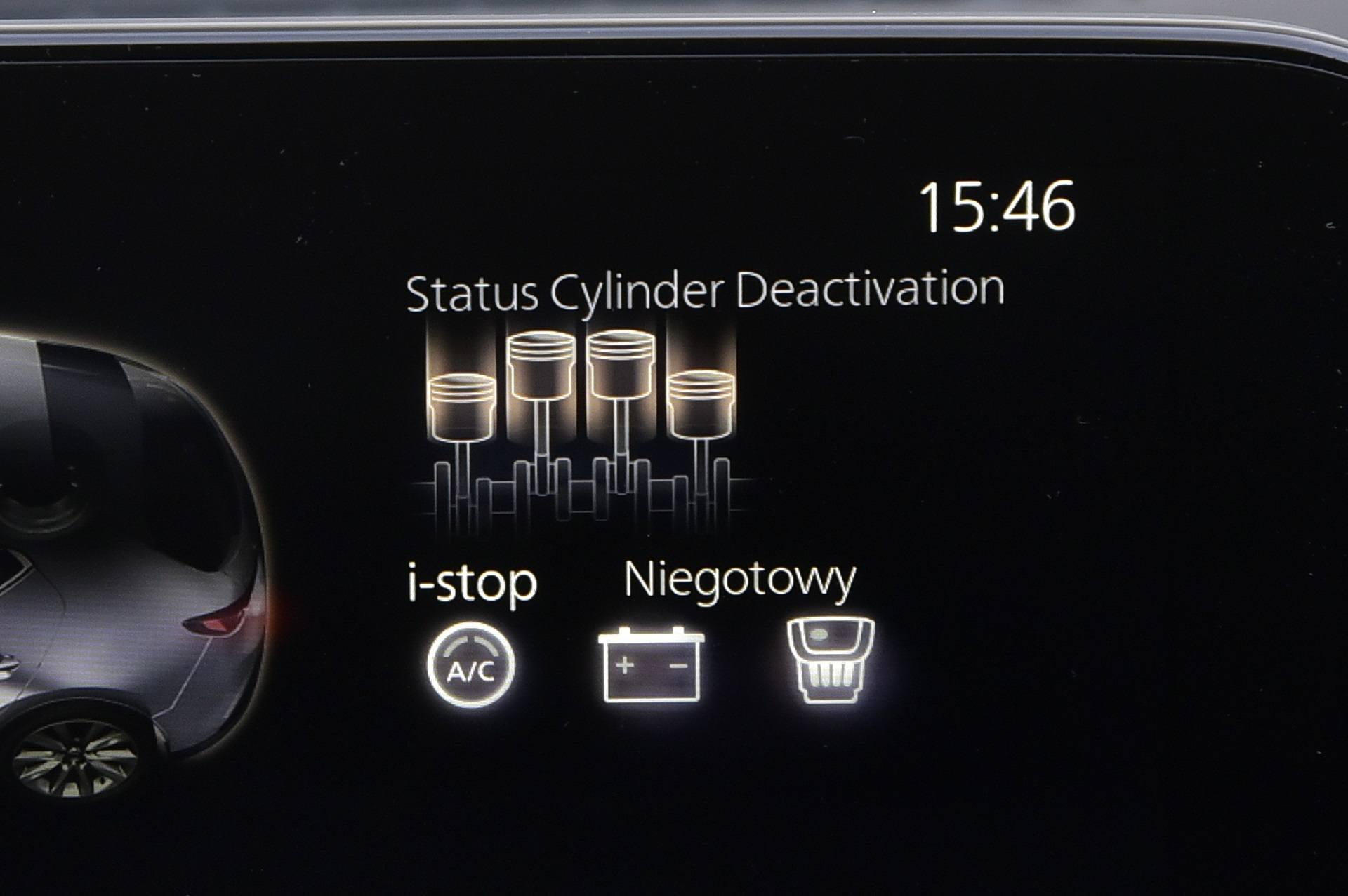 Mazda 3 - odłączanie cylindrów