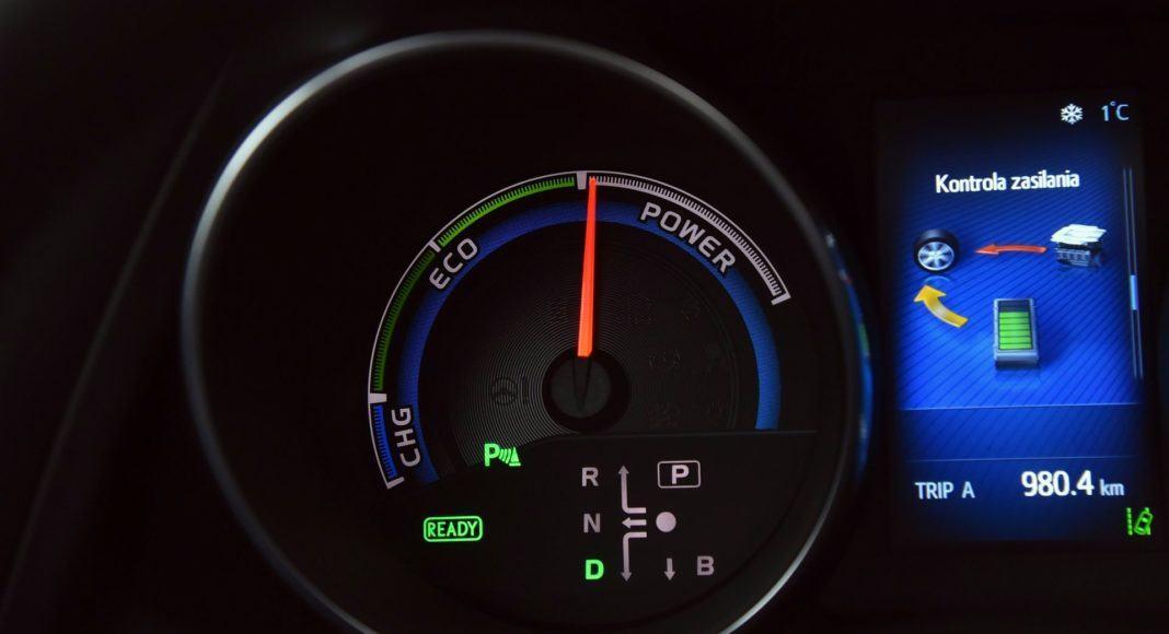 Toyota Auris TS Hybrid - zegar