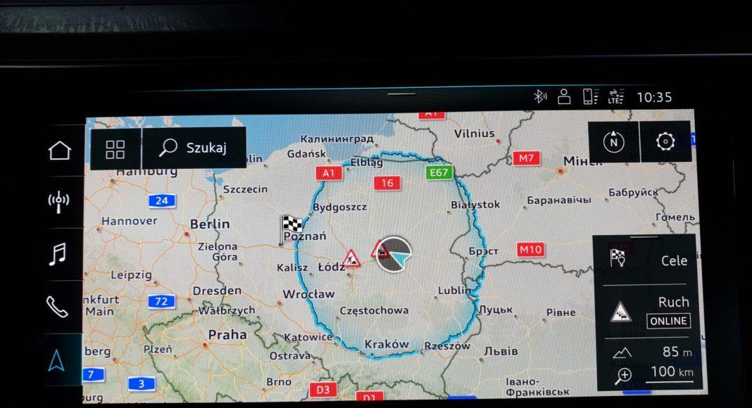 audi e-tron mapa nawigacji