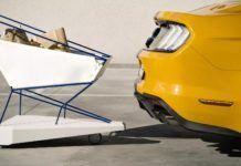 samohamujący wózek sklepowy Forda