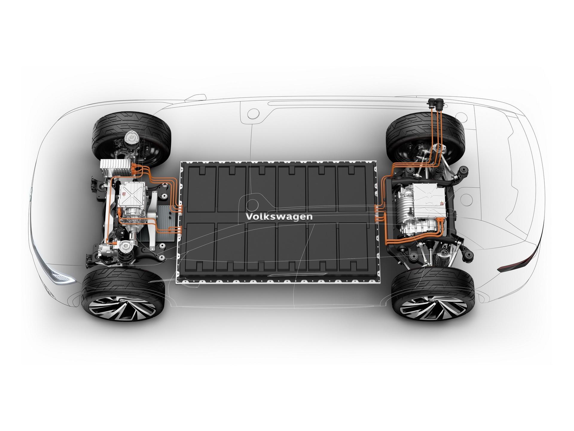 Opracowana przez inżynierów Volkswagena platforma MEB, na której powstanie cała gama aut elektrycznych.