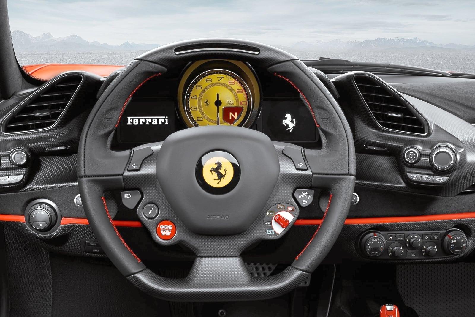 Ferrari 488 Pista – kokpit