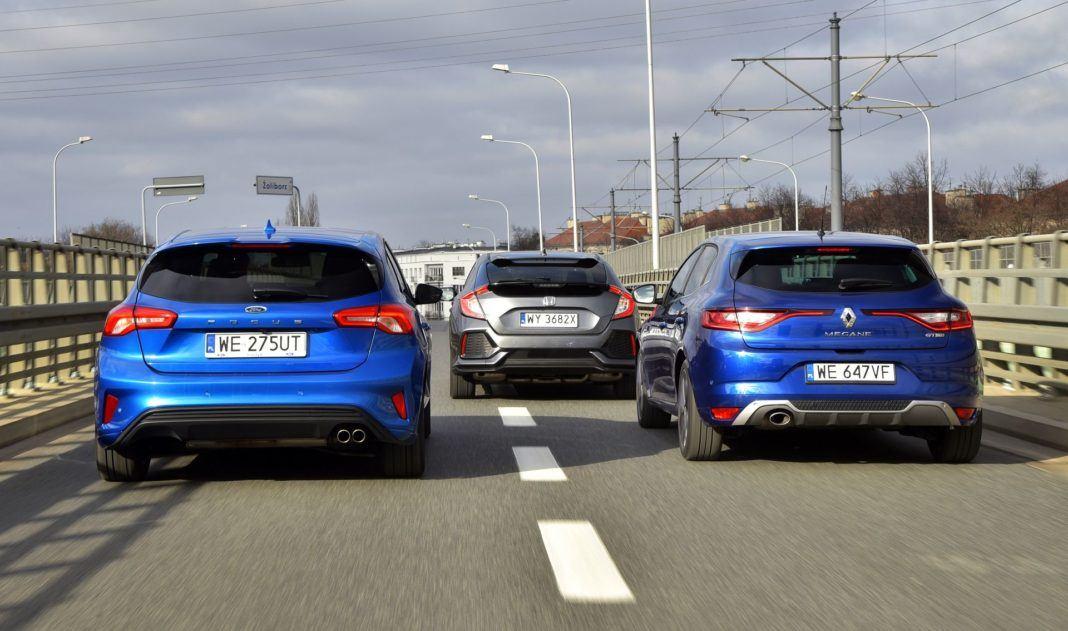 Porównanie Ford Focus - Honda Civic - Renault Megane