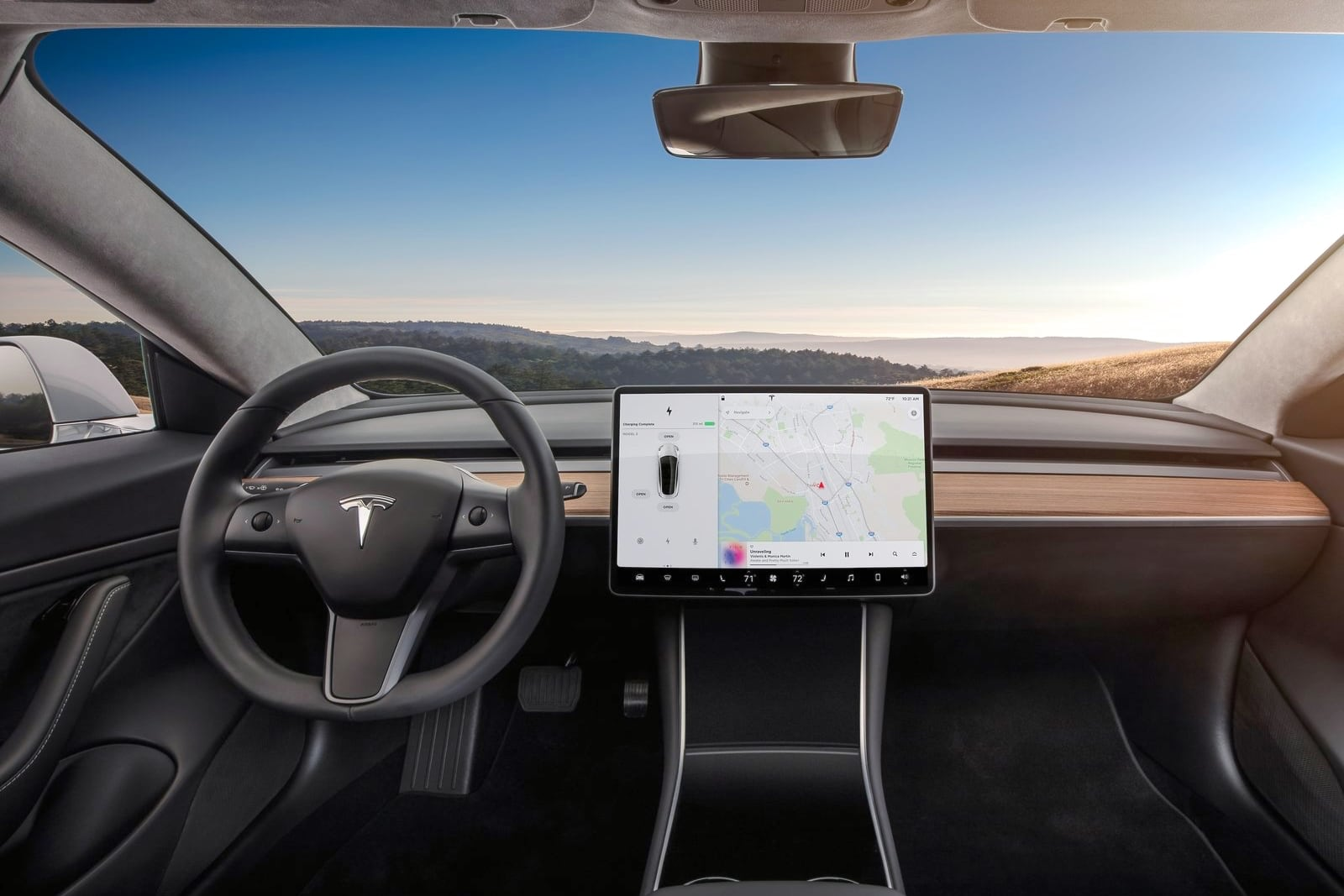 Tesla Model 3 –wnętrze