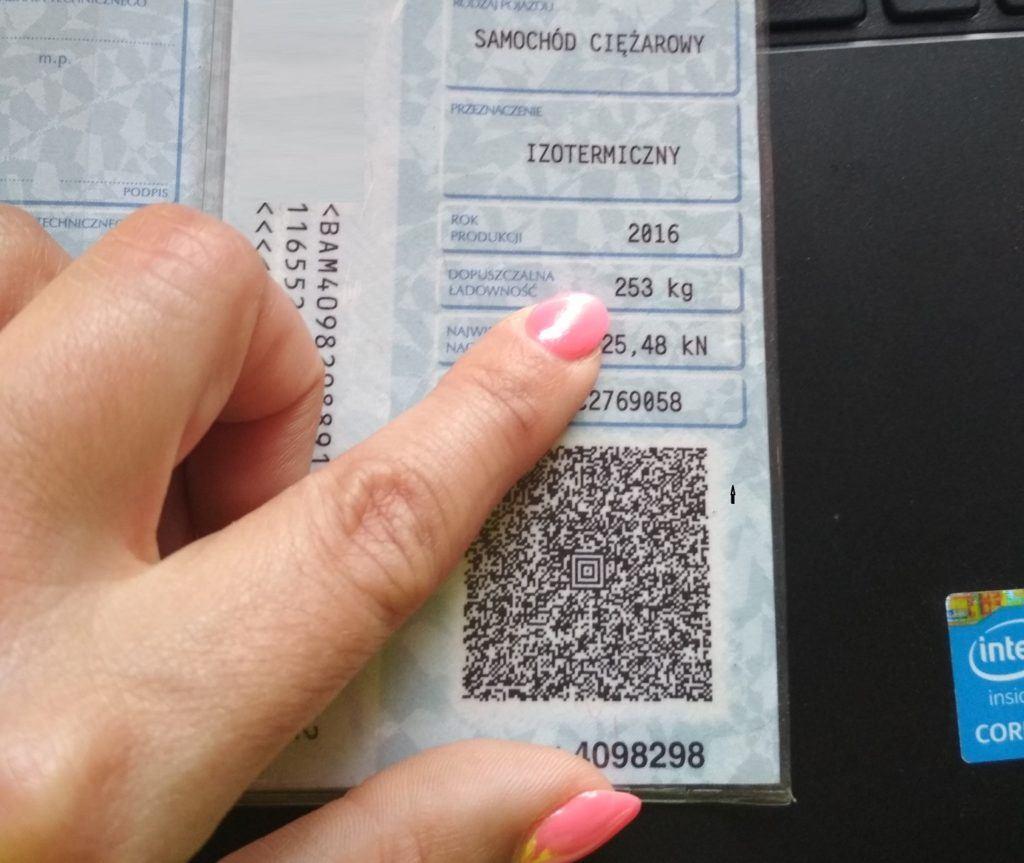 Dowód rejestracyjny - ładowność