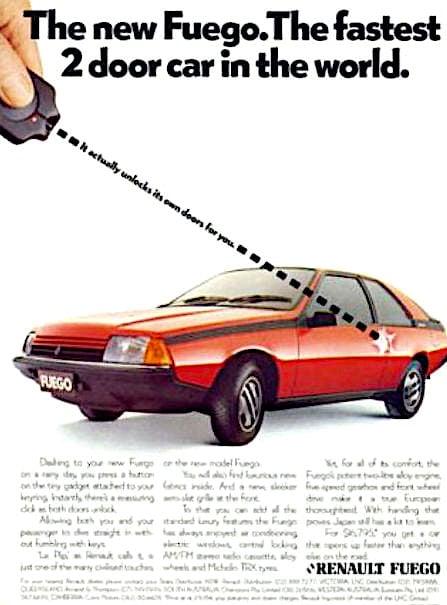 Renault Fuego - reklama