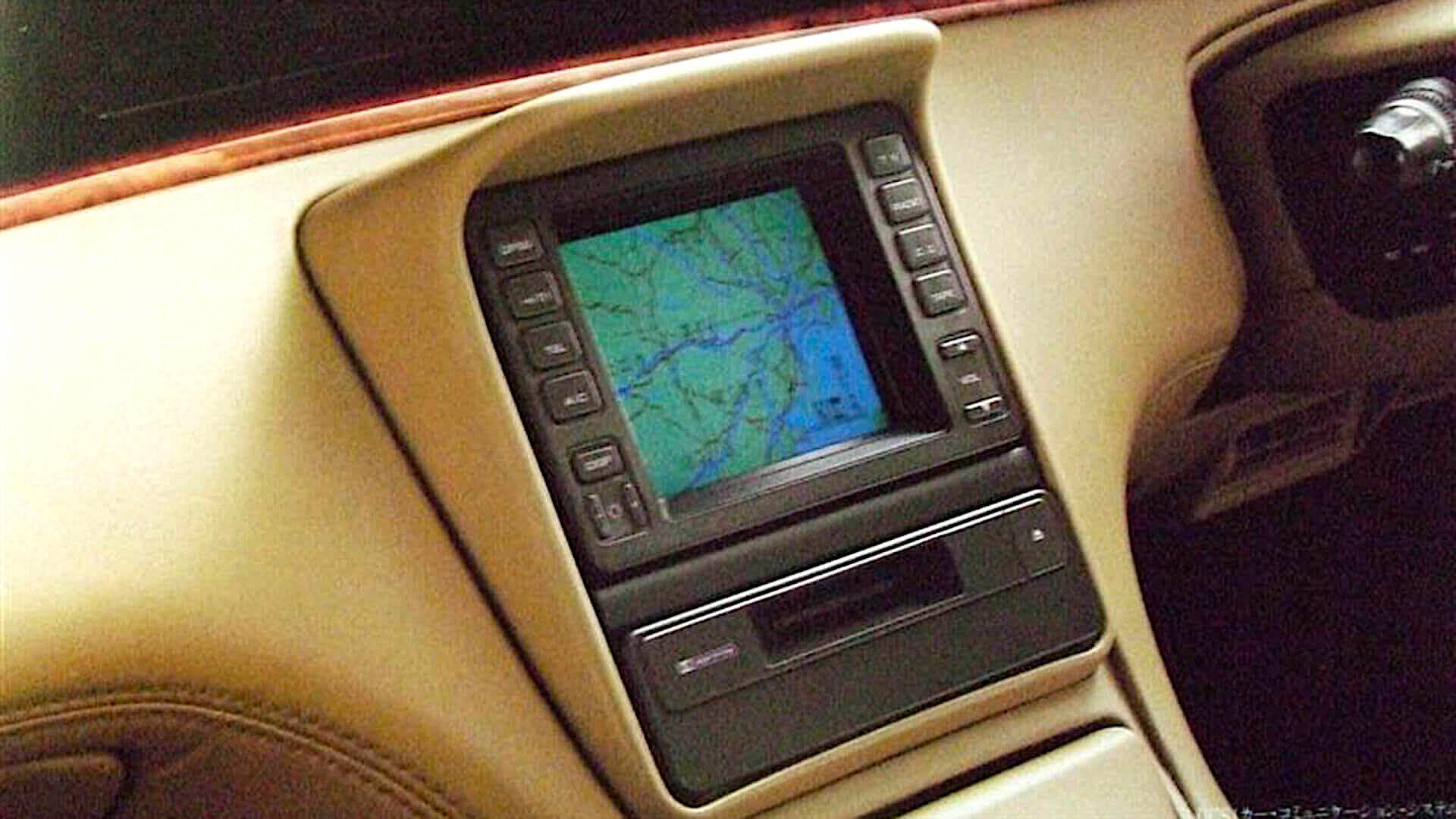 1990 Mazda Eunos Cosmo - nawigacja GPS