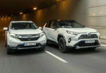 HONDA CR-V V Hybrid - TOYOTA RAV4 V Hybrid 03-2019