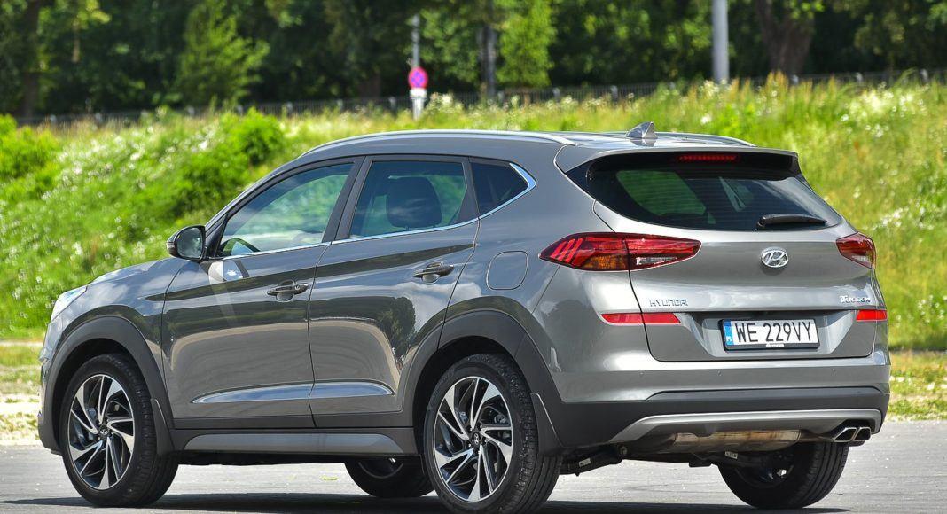 Hyundai Tucson – bok z tyłu