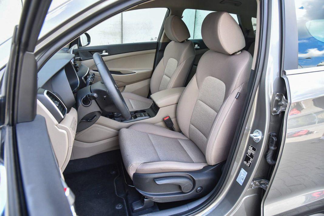 Hyundai Tucson – fotele z przodu
