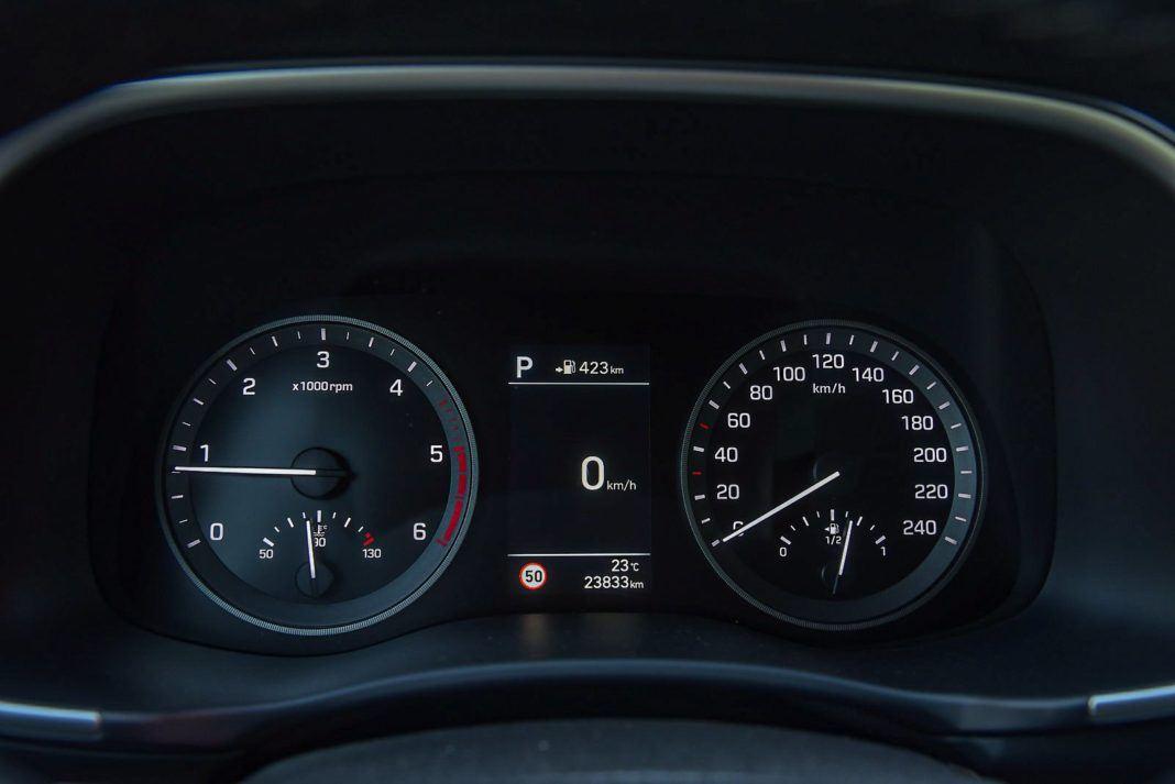 Hyundai Tucson – zegary