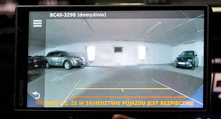 Test kamery cofania Garmin BC 40 06
