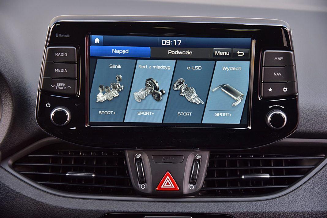 Hyundai i30 N Fastback –ustawienia