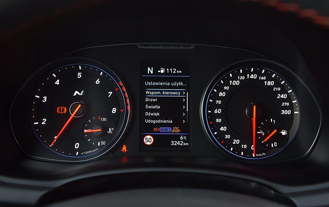 Hyundai i30 N Fastback – wskaźniki
