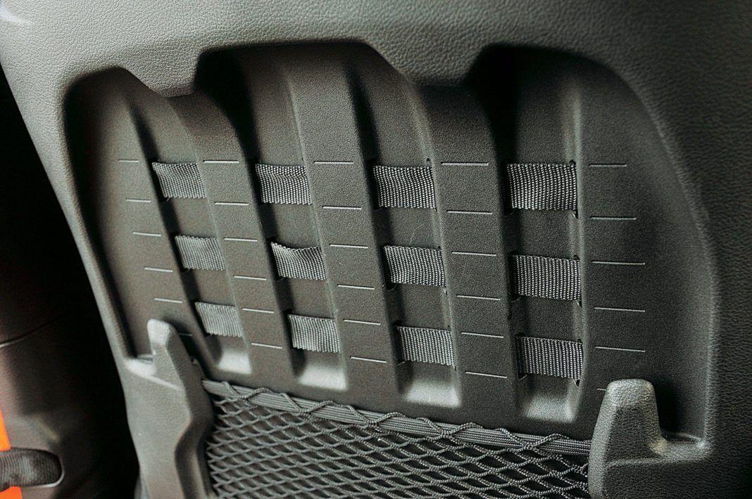Jeep Wrangler Unlimited – fotele taśmy i siatki
