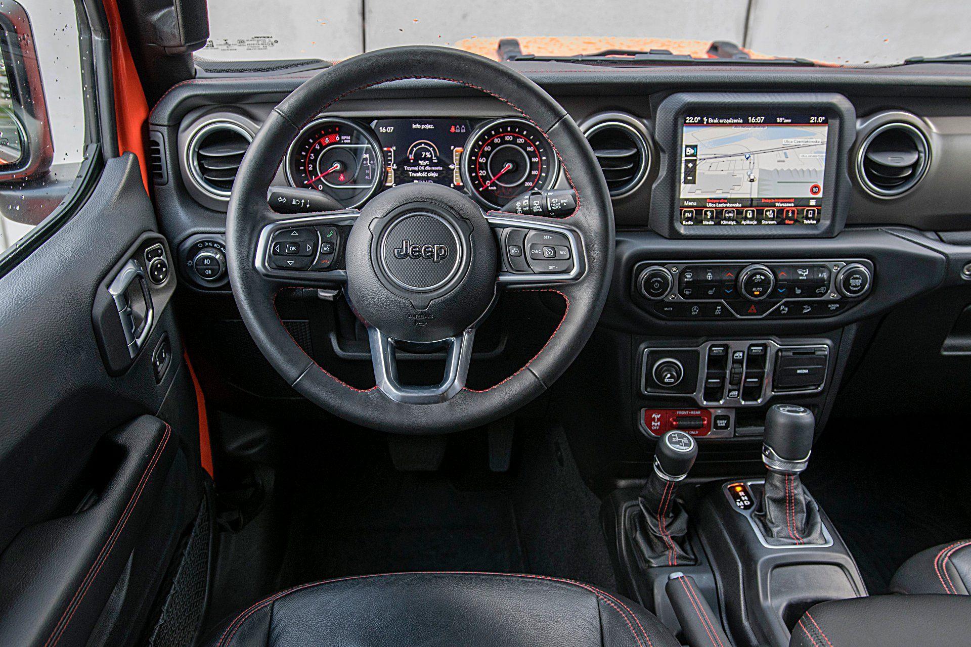 jeep wrangler unlimited deska rozdzielcza