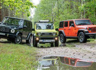 Jeep Wrangler, Mercedes G i Suzuki Jimny. Terenowe legendy w najnowszych interpretacjach - PORÓWNANIE