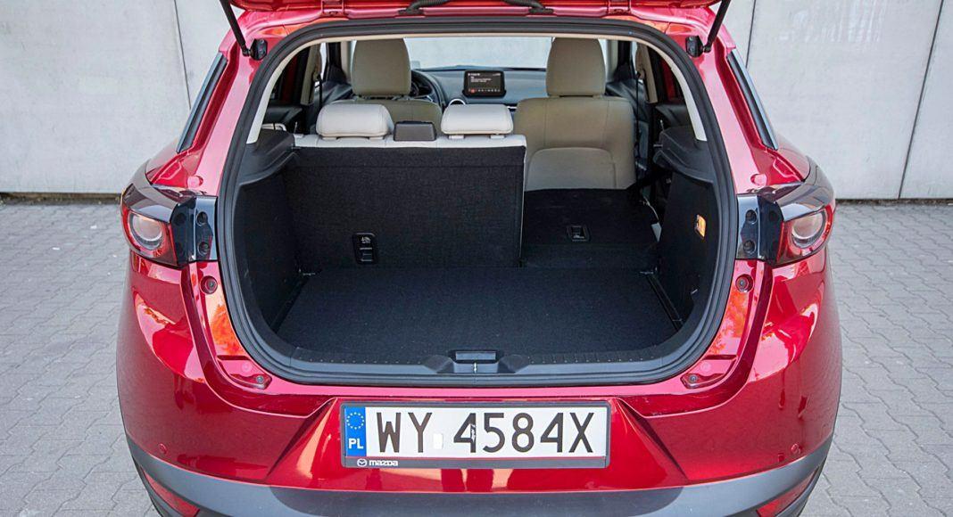 Mazda CX-3 – bagażnik składanie oparć