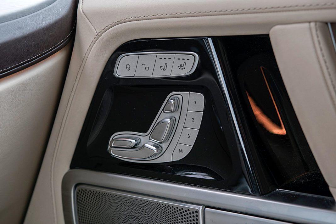 Mercedes G 500 – sterowanie fotelami