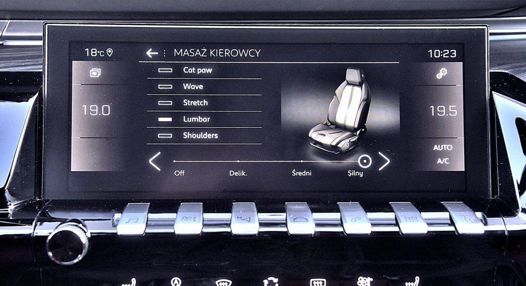 Peugeot 508 SW – masaż