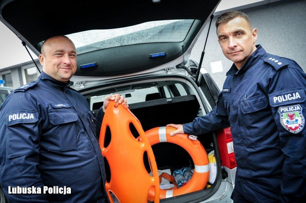 policja - sprzęt ratunkowy