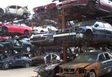 samochody na zlomowisku
