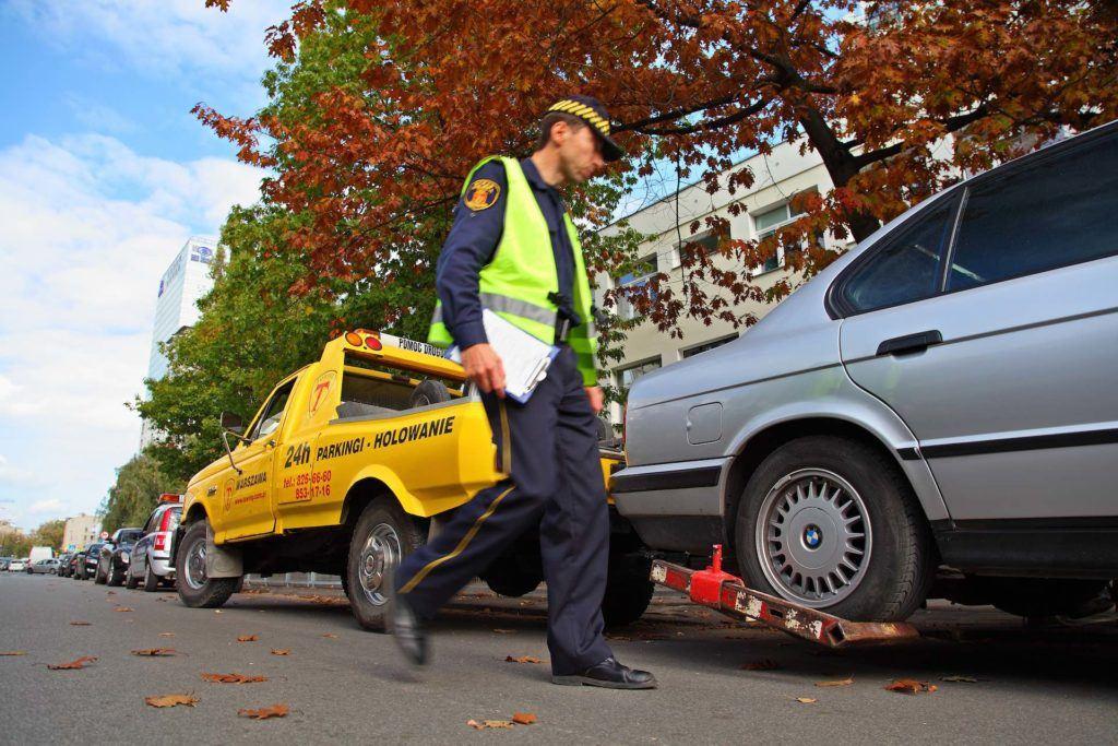 straz miejska - odholowanie pojazdu i mandat