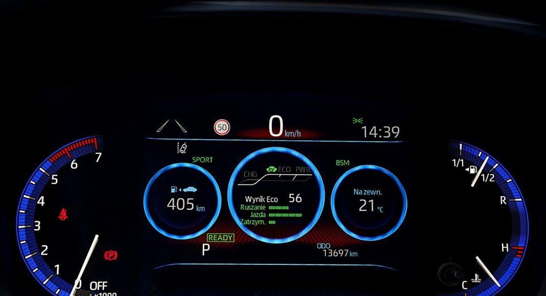 Toyota Corolla Hybrid – wskaźniki