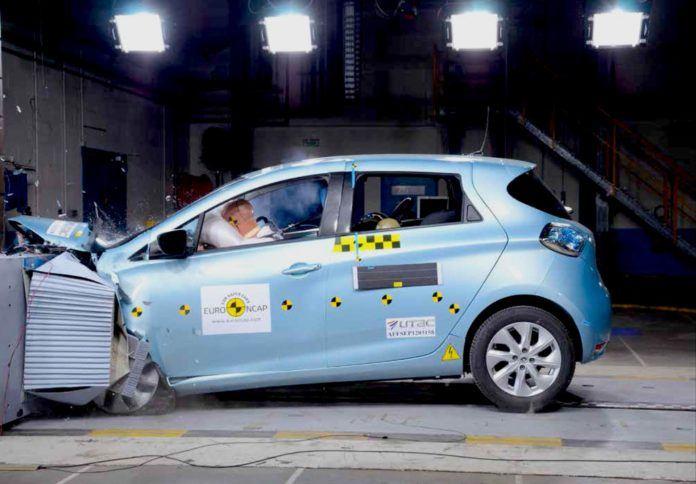 Crash test auta elektrycznego
