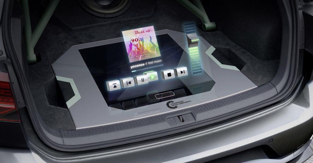 Golf GTI z hologramem