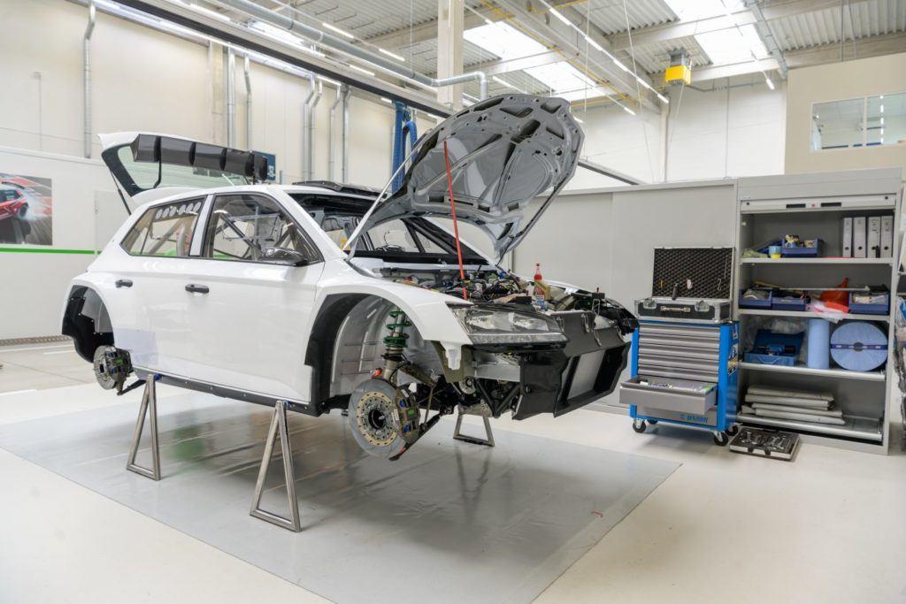 Skoda Fabia R5 evo - budowa samochodu