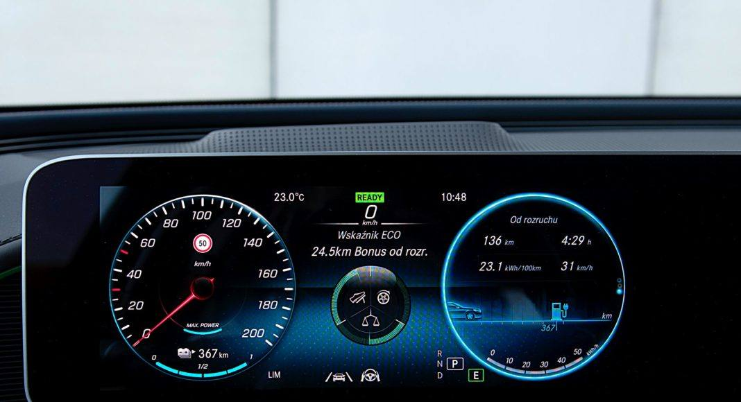 Mercedes EQC 400 4Matic – wskaźniki