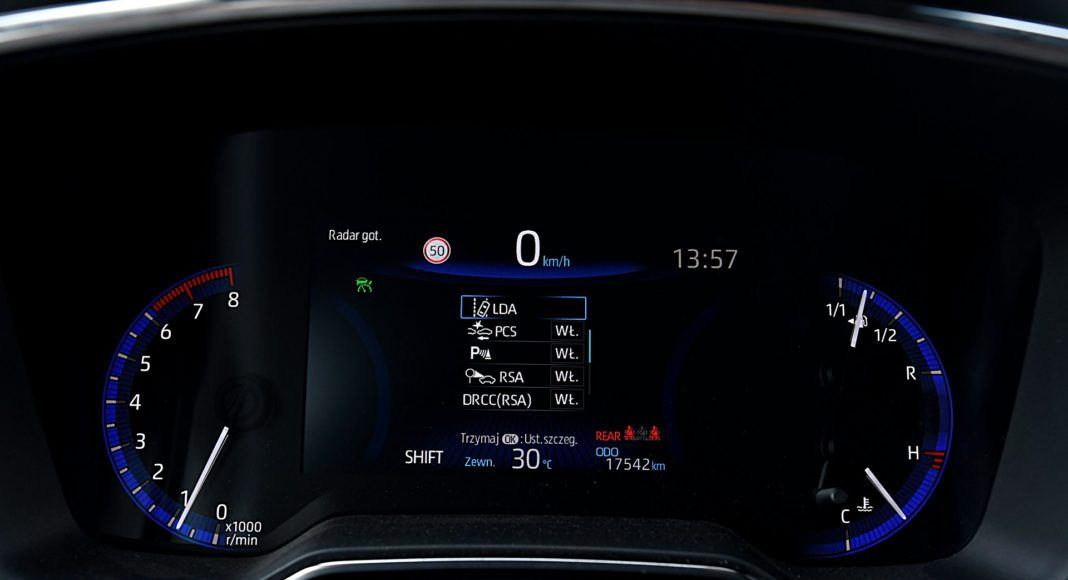 Toyota Corolla – wskaźniki