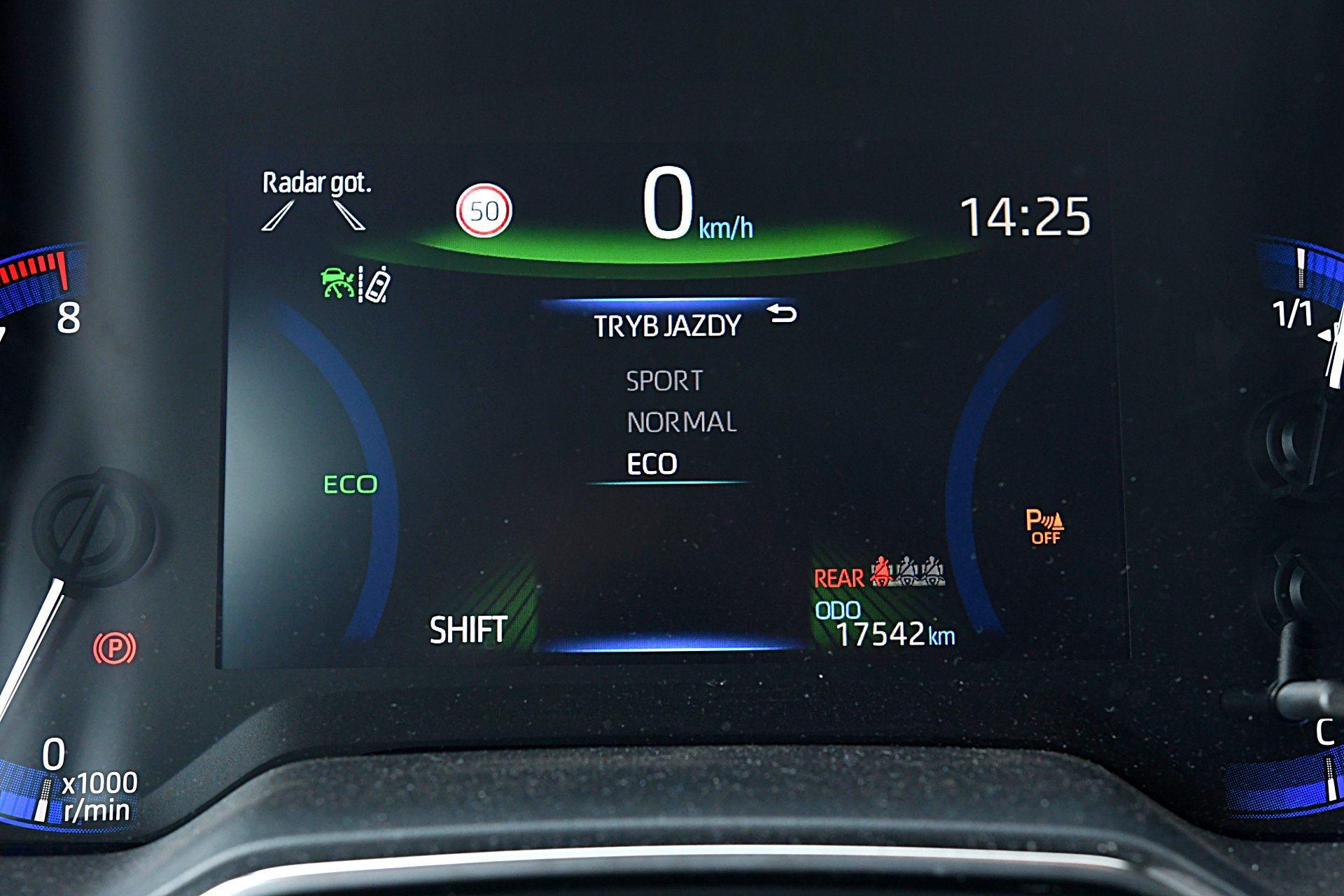 TOYOTA Corolla E21 Selection 1.2T ekran wskaźników