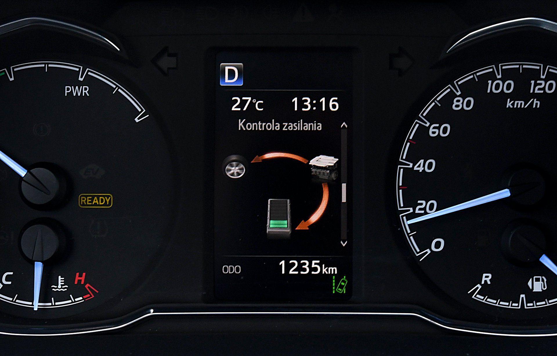 TOYOTA Yaris III FL GR Sport Hybrid 1.5 wskaźniki