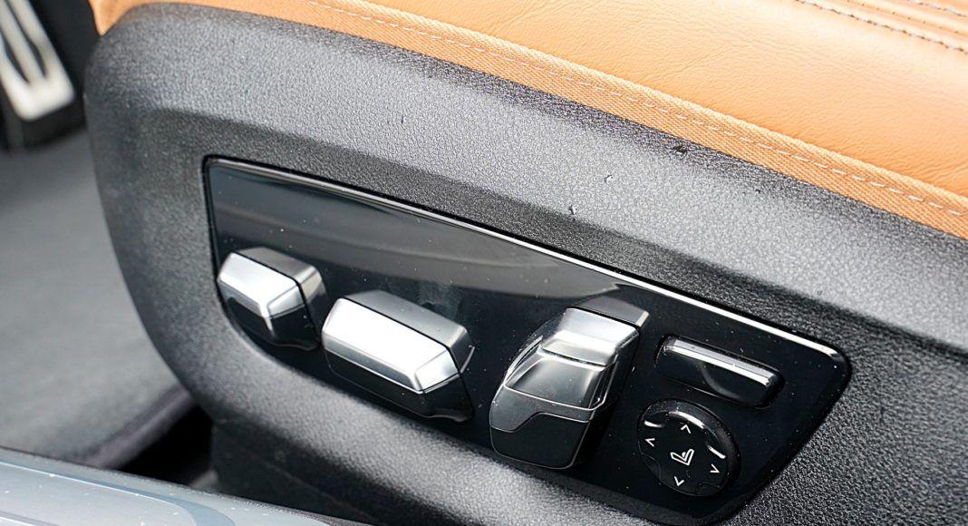 BMW 745Le G12 FL Plug-In Hybrid 3.0T sterowanie fotelami