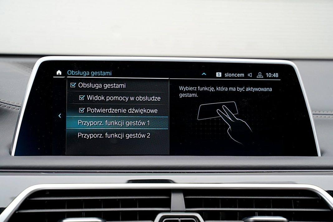 BMW 745Le G12 FL Plug-In Hybrid 3.0T sterowanie gestami
