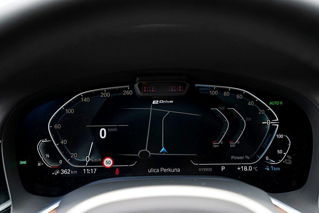 BMW 745Le xDrive – wskaźniki