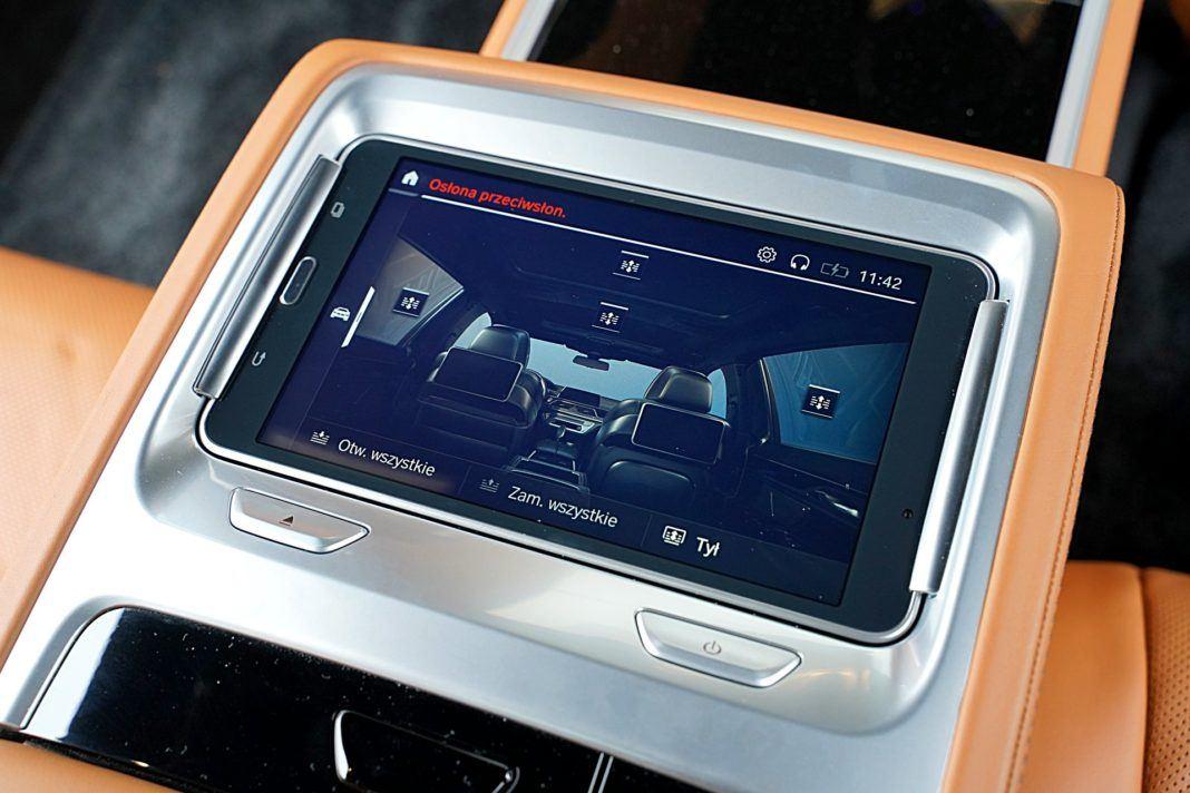 BMW 745Le G12 FL Plug-In Hybrid 3.0T tablet