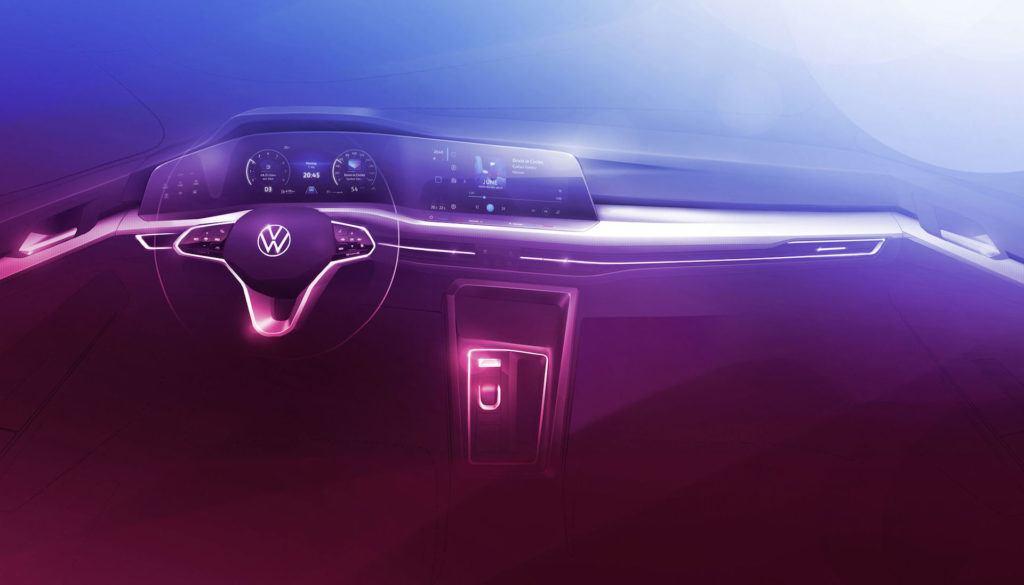 VW Golf VIII - wnetrze