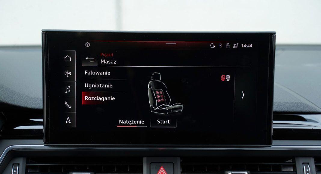 Audi A4 allroad 45 TFSI quattro S tronic - na życzenie dla przednich foteli dostępna jest prosta funkcja masażu