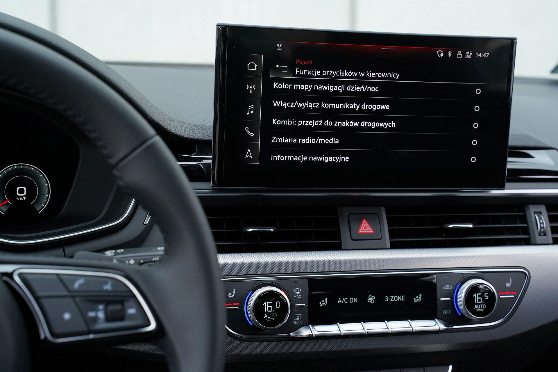 Audi A4 allroad quattro - przycisk funkcyjny