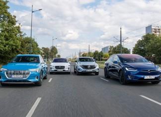 Audi e-tron, Jaguar I-Pace, Mercedes EQC, Tesla Model X – PORÓWNANIE