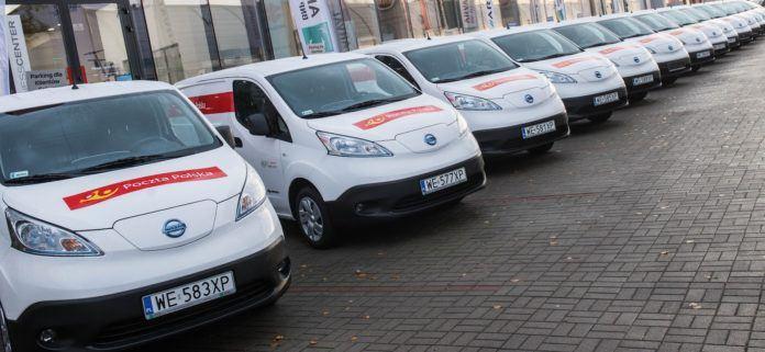 Elektryczne samochody Poczty
