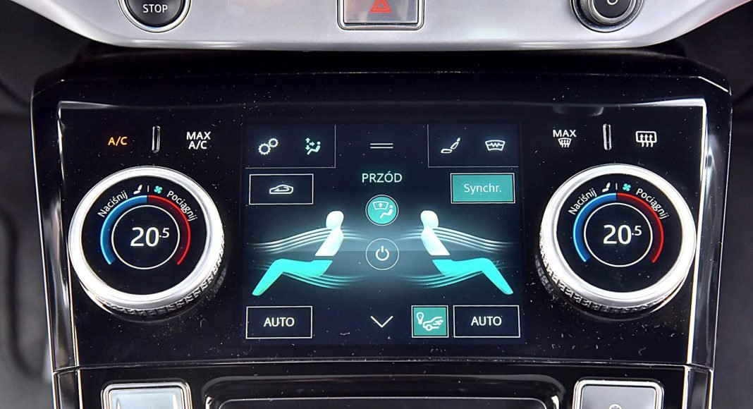 Jaguar I-Pace EV400 AWD – obsługa klimatyzacji