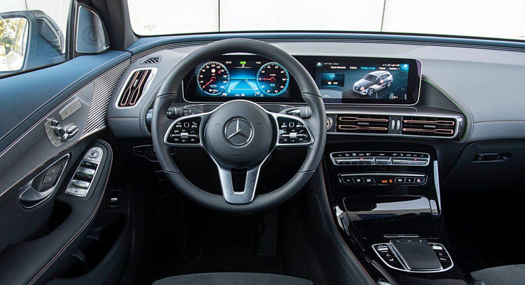 Mercedes EQC 400 4Matic – deska rozdzielcza