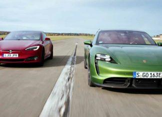 Porsche Taycan kontra Tesla Model S – test Top Gear