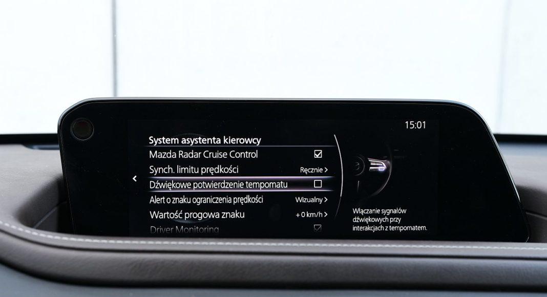 Mazda CX-30 2.0 Skyactiv-G 6AT test 2020 systemy wspomagające